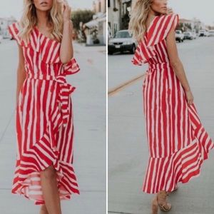 Flying Tomato one shoulder high low dress S